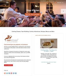 Hipp Kitchen Website Design for Personal Chef and Food Services by Constance Brand, CGMEDIA